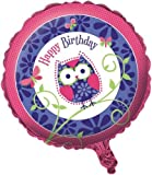 Two-Sided Mylar Foil Round Balloon, Owl Pal