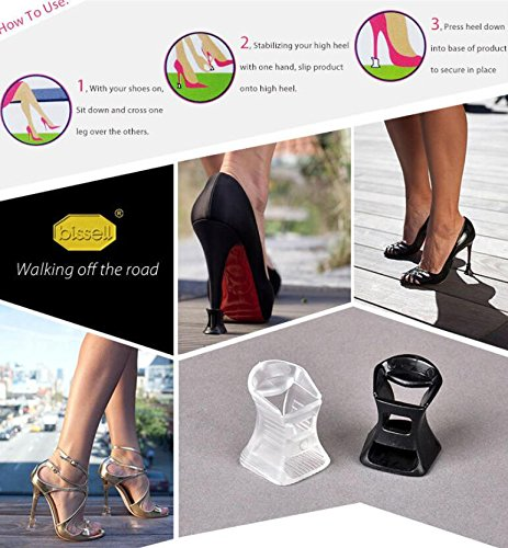 Brides Protector Heels High Protecteurs Transparents Shining Stoppers Talons Bright qwf5SxznU