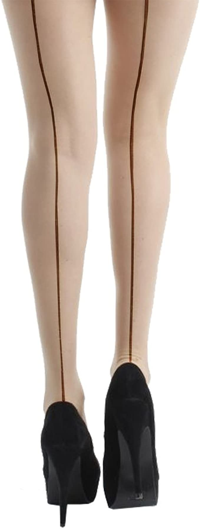 15 denari cucitura retro SEAMED Calze con tacco cubano Burlesque Da Pretty Legs