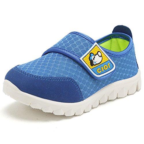 CIOR Kids Mesh Light Weight Sneakers Running Shoe For Boy's Girl's Footwear,Blue02,32