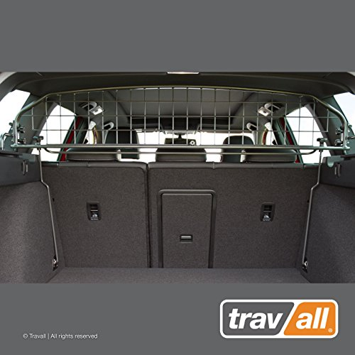 Travall Guard Compatible with Volkswagen Golf Wagon with Sunroof 2013-Current Golf Alltrack 2015-Current TDG1472 – Rattle-Free Steel Pet Barrier