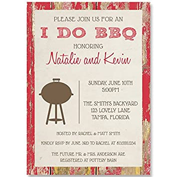 Amazon wedding shower invitations couples bridal i do bbq wedding shower invitations couples bridal i do bbq barbecue red filmwisefo
