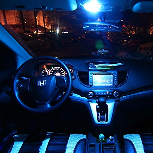 Partsam 2006-2012 Honda Civic Coupe Sedan Ice Blue Interior LED Lights Package Kit + Gift Tool ...
