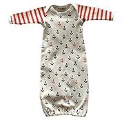 Newborn Toddler Infant Baby Anchors Print Bodysuit Sleeping Bag Sleeper Gown size 0-6 Months (White)