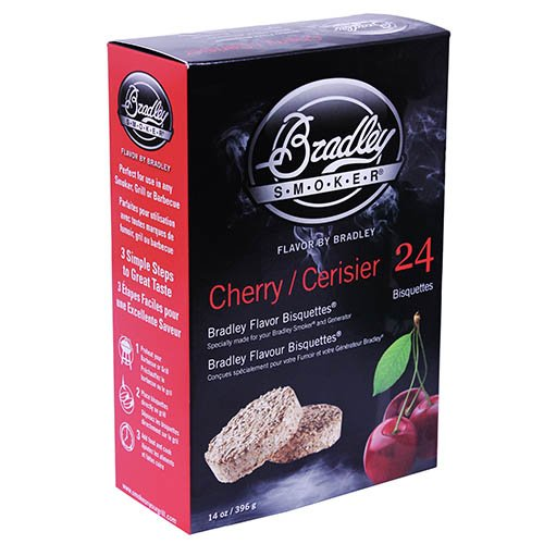 CHERRY BISQUETTES 24PK by BRADLEY SMOKER MfrPartNo BTCH24 by BRADLEY