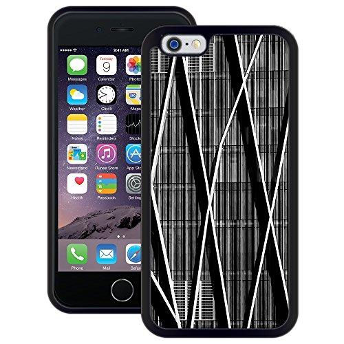 Abstrakt Wolkenkratzer | Handgefertigt | iPhone 6 6s (4,7') | Schwarze Hülle