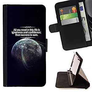 DEVIL CASE - FOR Apple Iphone 4 / 4S - Life Success Planet Earth Confidence Cosmos - Style PU Leather Case Wallet Flip Stand Flap Closure Cover