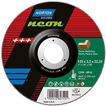 25 x NORTON Trennscheibe, gekröpft 42   230x2,5x22,23 C24R-BF42   Neon