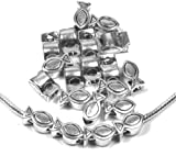 20 European Charm Beads Christian Fish Antique Silver 13x7mm with Hole 4.5mm 20pcs