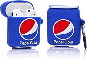 Pepsi Cola Silicone Shockproof Protective Case Cover For Airpods