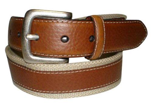 IZOD Web Tan Belt 38W Tan - Web Leather