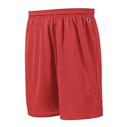(Champion Polyester Mesh Short 9' Scarlet)