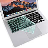 MOSISO Ultra Thin Keyboard Cover Protector Soft TPU Skin Compatible MacBook Pro 13/15 Inch (with/Without Retina Display, 2015 or Older Version) MacBook Air 13 Inch (Release 2010-2017), Mint Green