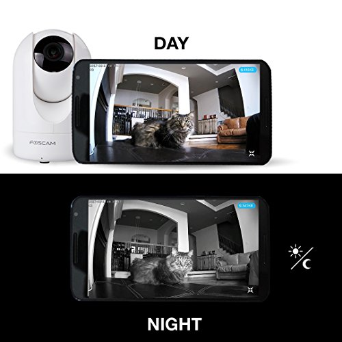 Foscam R4 2K UltraHD (4.0 MP) WiFi Security IP Camera with iOS/Android App, WDR, Pan, Tilt, Zoom, 2-Way Audio, Motion Alerts, and More (White)