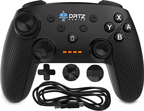 Ortz Wireless Gaming Controller oNintendo Switch [Free- Analog Replacements] GamePad Remote - Best PC USB Computer, Windows 7 &10, Android [TURBO BUTTONS] 40 by Ortz