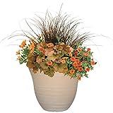 """Honeysuckle Planter, Patio Pot, 13"""" Grained Beige"""