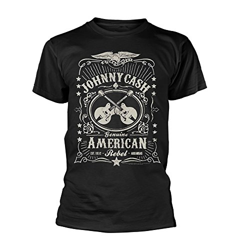 Johnny Cash T Shirt American Rebel Official Mens Black