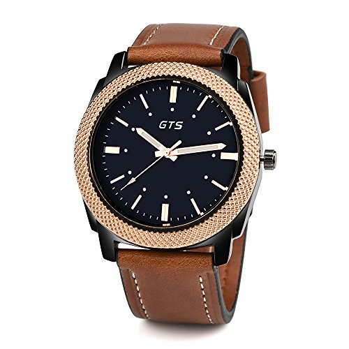 Clearance Mens Quartz Watch,Hengshikeji 1PC Unique Fashion GTS Men's Date Alloy Case Synthetic Leather Analog Quartz Sport Watch with Round Dial Alloy Case,Stainless Steel Watch Date Men's Wrist Watch ()