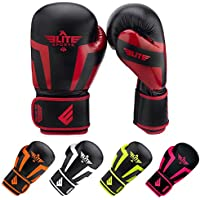 Elite Sports Boxing, Kickboxing, Adult & Kids Muay Thai Gel Sparring Training Gloves