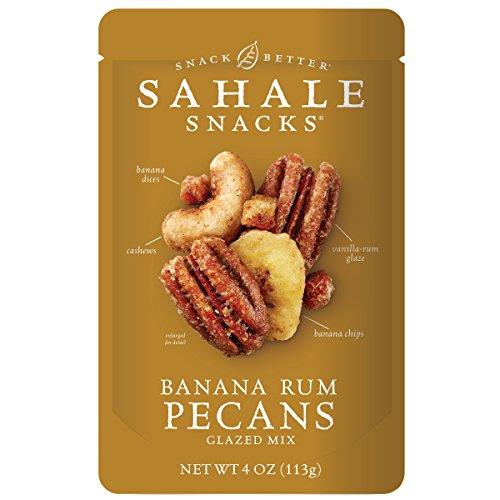 Sahale Snacks Pecans Glazed Mix Gluten-Free Snack, Banana Rum, 6 Count