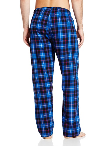 Hanes Men's Woven Plaid Pajama Pant, Blue/Navy Plaid, Large