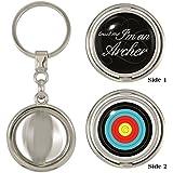 Trust Me I'm An Archer & Archery Target 2-Sided Spinner Keyring