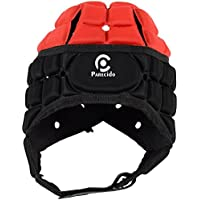 Parecido Pro Style Cotton & Polyster Rugby Headguard (Red & Black)