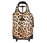 Lightweight Insulated Rolling Tote, Cheetah