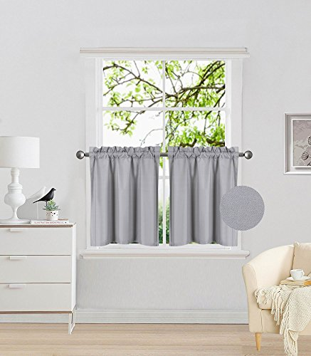 Elegant Home 2 Panels Tiers Small Window Treatment Curtain