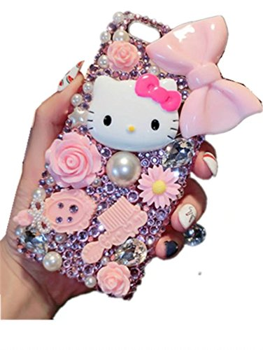 Galaxy Note 5 Case,Galaxy Note 5 Crystal Rhinestone Case,3D Cartoon Cat Bow-knot Luxury Sparkle Glitter Crystal Rhinestone Bling Diamond Phone Case Cover For Samsung Galaxy Note - Note 3 3d Case Cartoon