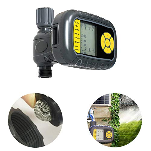 (Watering Timer,Outlet Programmable Hose Faucet Timer Solar Charge Pool with Timer for Tap Automatic Controller Watering Garden Water Irrigation Timer Programmer Irrigation,EU)