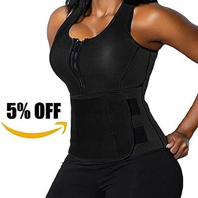 Lelinta Neoprene Sauna Suit - Sauna Tank Top Vest With Adjustable Shaper Trainer Belt