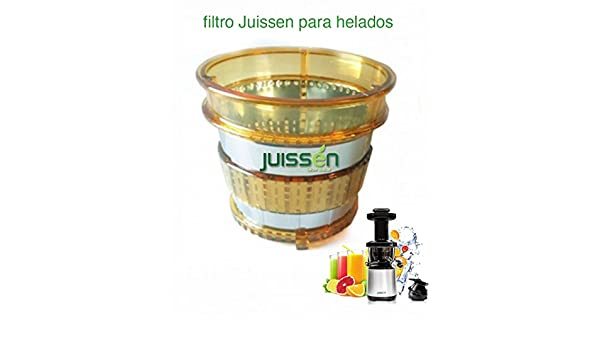 FILTRO PARA HELADOS - COLD PRESS SLOW JUISSEN: Amazon.es: Hogar