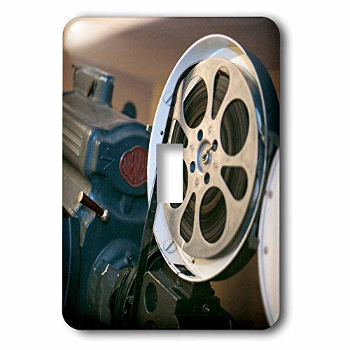 3dRose Danita Delimont - Albuquerque - Albuquerque, New Mexico, Route 66, Vintage film projector at theater - Light Switch Covers - single toggle switch - Route 66 Switch Light