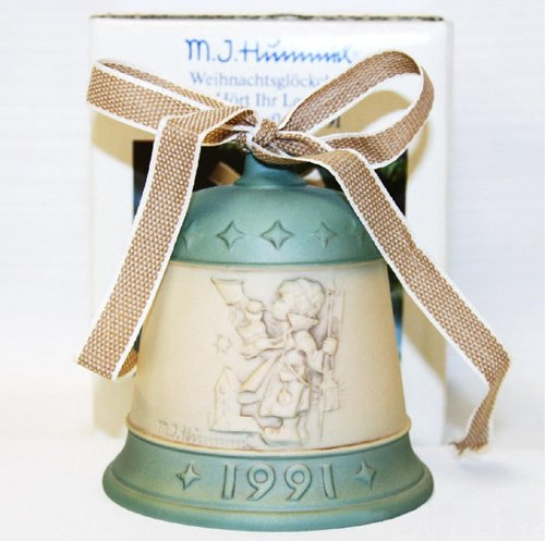 "M.J. Hummel 1991 ""Hear Ye Hear Ye"" Goebel Bell German Collectible Ornament - Vintage Holiday Decor"