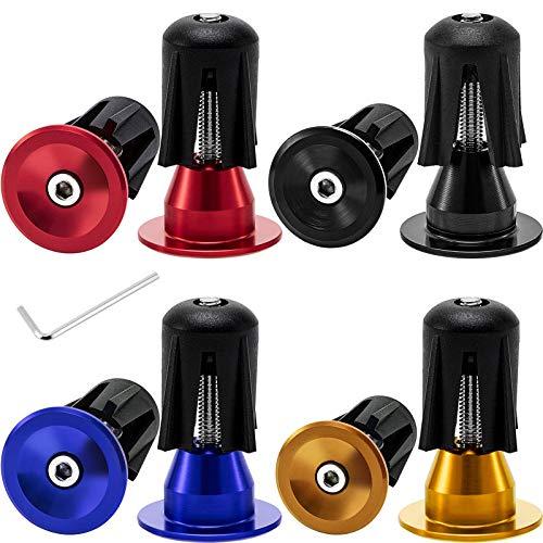 4pcs Bike Black Mini Rubber Grip Handlebar Bar End Plugs Stoppers Caps B$