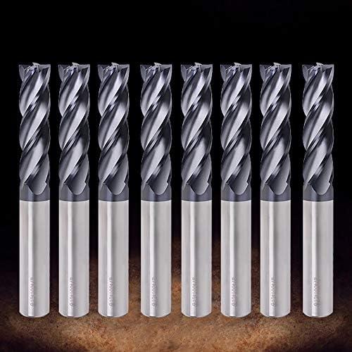 GENERICS LSB-Werkzeuge, Schaftfräser HRC50 4 Nutenfräser 1/1,5/2 / 2,5/3/4/5 / 6mm Hartmetall Wolframstahl Fräser Schaftfräser Metallfräser (Cutting Edge Diameter : 1.5mm)