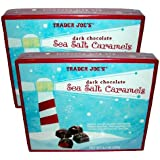 Trader Joe's Dark Chocolate Sea Salt Caramels 6.3 Oz. Box (Pack of 2)