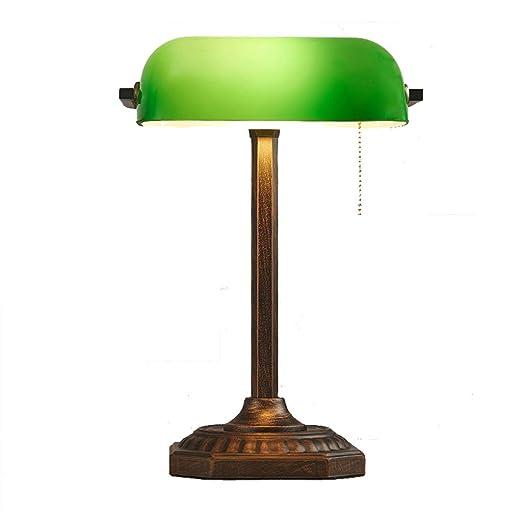 Lámpara de Escritorio de la banca clásica/Lámpara Mesa Cobre ...