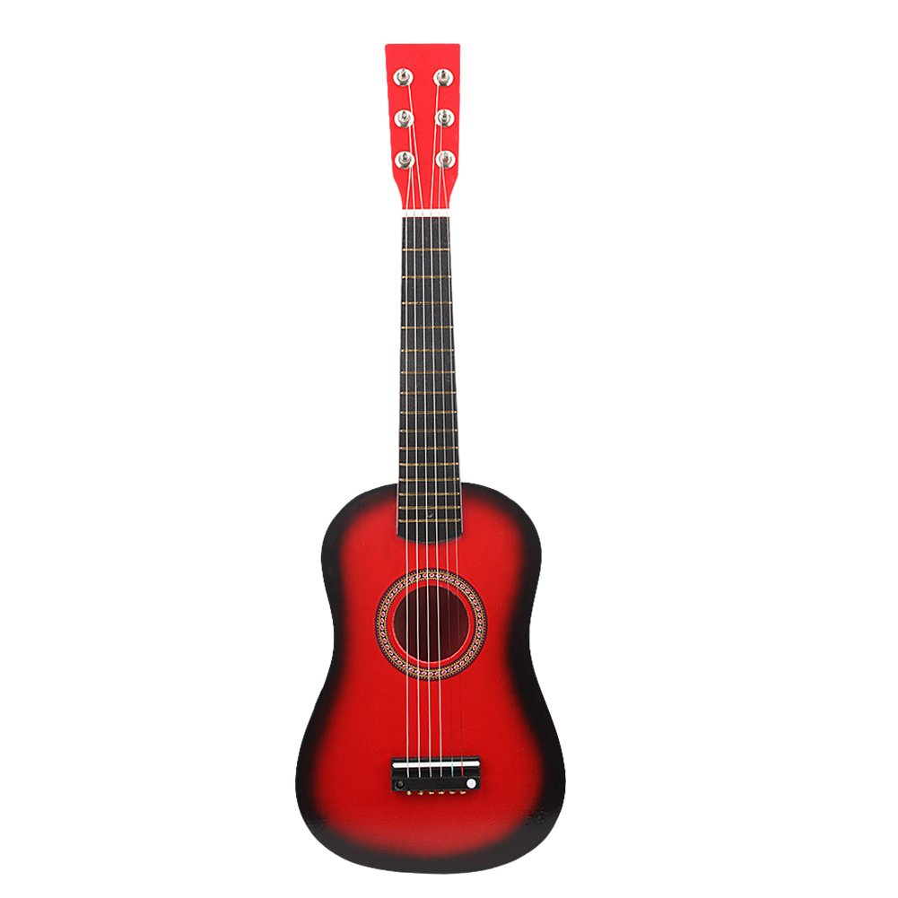 23 Inch Guitar for Kids, Basswood Mini Guitar Kids Musical Instrument Toy for Beginner(Wood Color) Dilwe Dilwenrmt0gdxcs-06