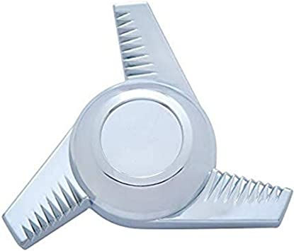 United Pacific Chrome Plastic 3 Bar Right Swing Hub Cap Spinner Only
