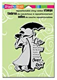 rain stamp - Stampendous Cling Rain Dance Rubber Stamp