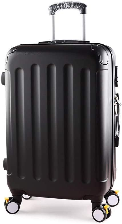 Color : Black Mihaojianbing Mens Trolley Case with Extended Luggage Suitcase Luggage Suitcase Female Large Capacity Suitcase 24 College Student Box Color White Black Blue Size 65 41 21cm