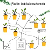Leoie DIY Micro Automatic Drip Irrigation Kit Self Watering System with 30-Day Timer and USB Charging