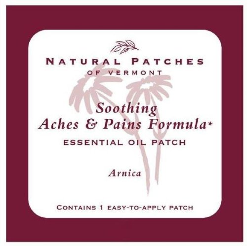 Naturopatch Of Vermont Arnica for Aches & Pains Aromatherapy Body Patches Single Sachet (Pack of 6)
