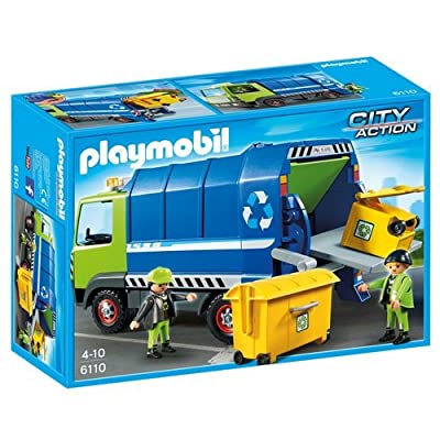 PLAYMOBIL Recycling Truck Playset: Toys & Games