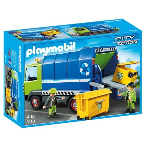 PLAYMOBIL Recycling Truck (Plastic Recycling Tilt Truck)