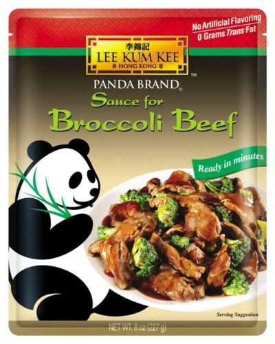 Lee Kum Kee Sauce for Broccoli Beef, 8-Ounce Pouches (Pack of 4)