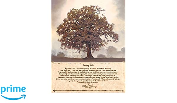 Living Life By Bonnie Mohr Inspirational Sayings Tree Print Poster 16x20