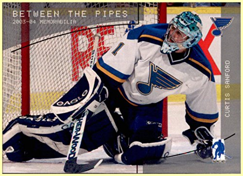 2003-04 BAP Be A Player Memorabilia Between the Pipes Goalie #112 Curtis Sanford ST. LOUIS BLUES